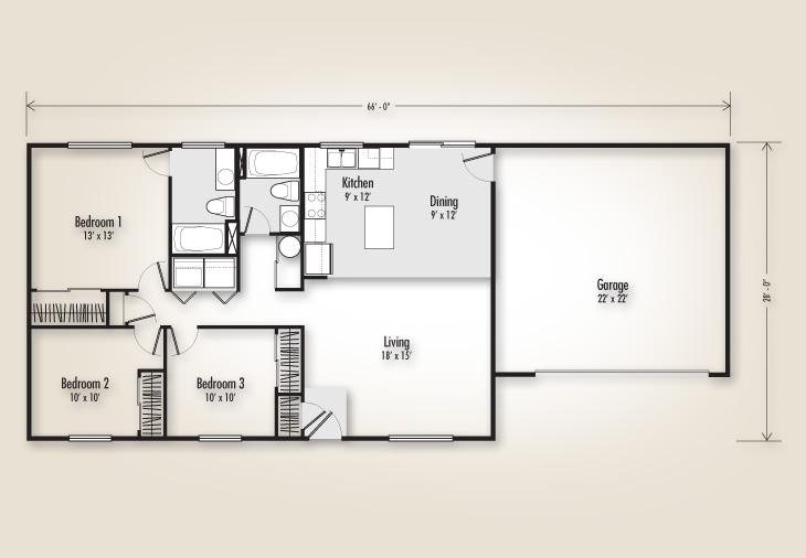 1232 Plan Homes Adair Homes
