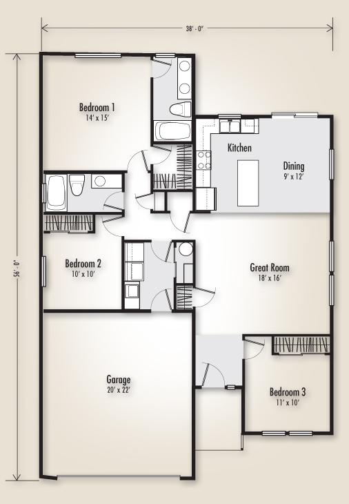 The Arcadia East 1405 Home Plan Adair Homes