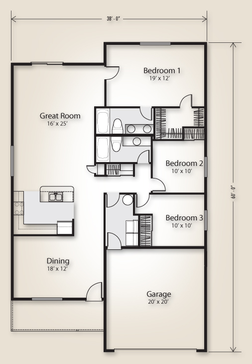 The Whidbey 1634 Home Plan Adair Homes