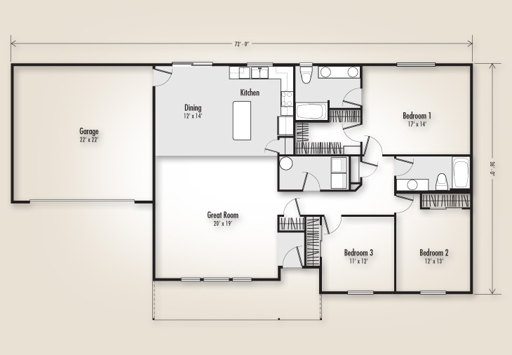 The odell 1736 home plan adair homes for Adair home plans