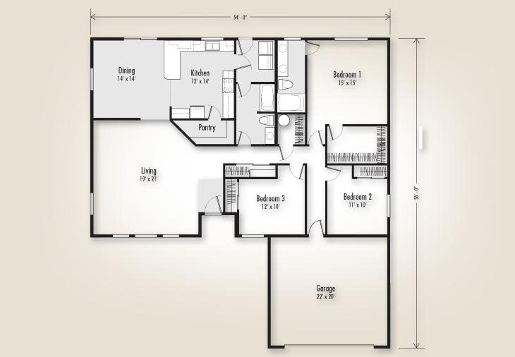 The mckenzie 1920 home plan adair homes for 1920 floor plans