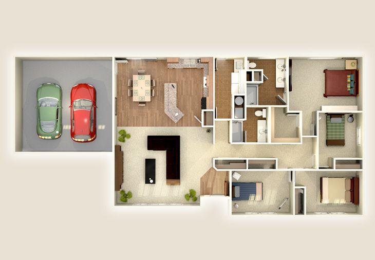 The Alexander 1950 Home Plan Adair Homes