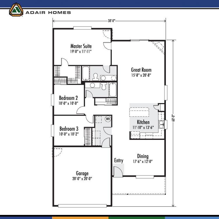 Adair Homes The Whidbey 1634 Home Plan