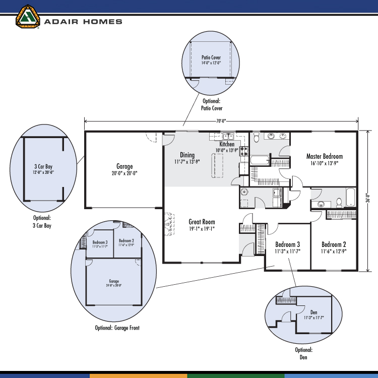 Adair homes the odell 1736 home plan for Adair home plans