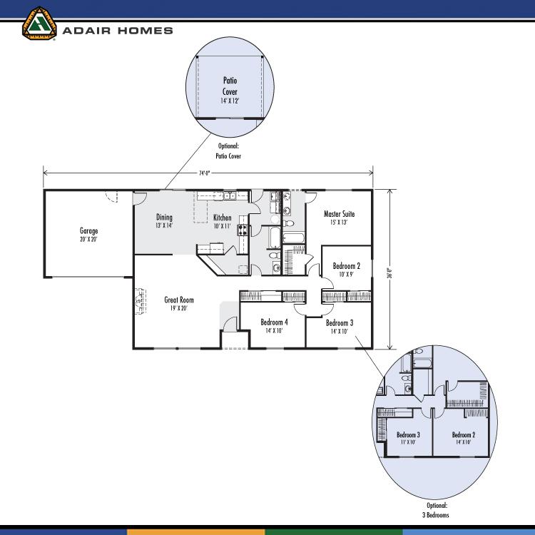 Adair Homes The Mckenzie 1920 Home Plan