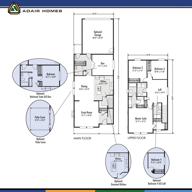 Adair Homes The Jefferson 2222 Home Plan