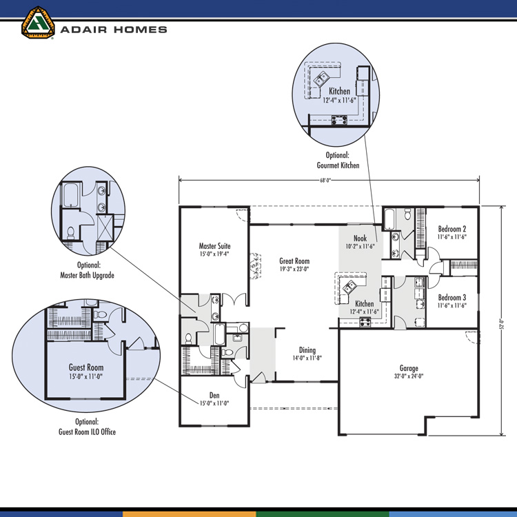 Adair homes the josephine 2382 home plan for Adair home plans