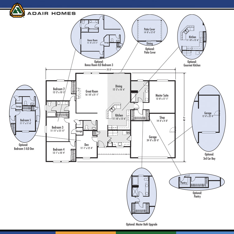 Adair homes the madison 2449 home plan for Adair home plans