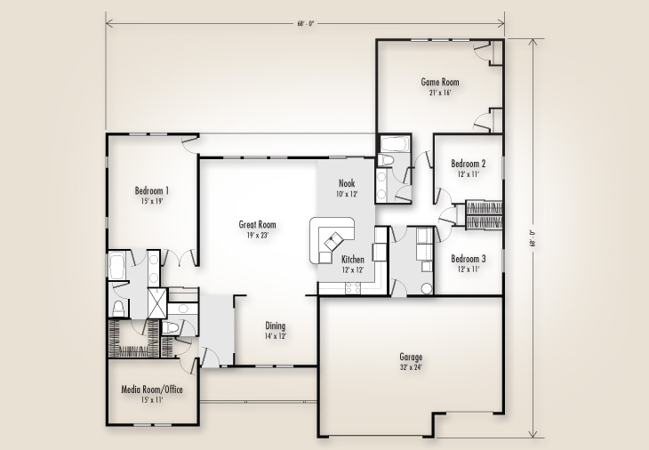 The mt hood 2734 home plan adair homes for Adair home plans